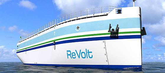 Bug Revolt DNV GL Elektroschiff Schiff der Zukunft