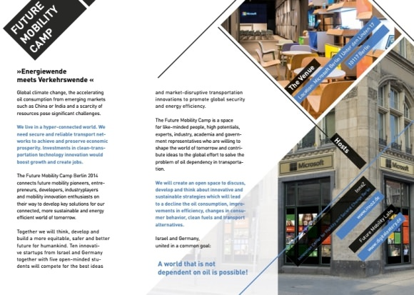 Flyer Future Mobility Camp Berlin 2014