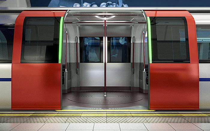 New Tube for London (NTfL) London Neue U-Bahn Türspuren Türen