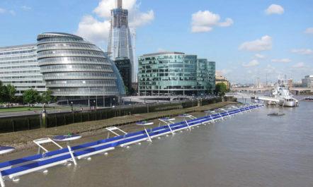 [Designstudie] Ein schwimmender Radweg auf der Themse