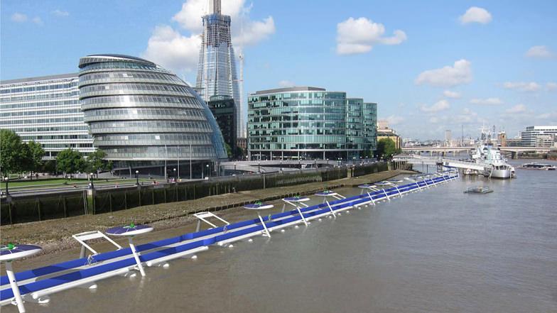 schwimmender Radweg London Designstudie Radverkehr