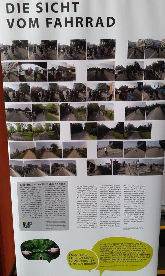 Radverkehr in Kopenhagen - Ausstellung the good city Fahrrad Pedal-Zonen Fußgängerzone