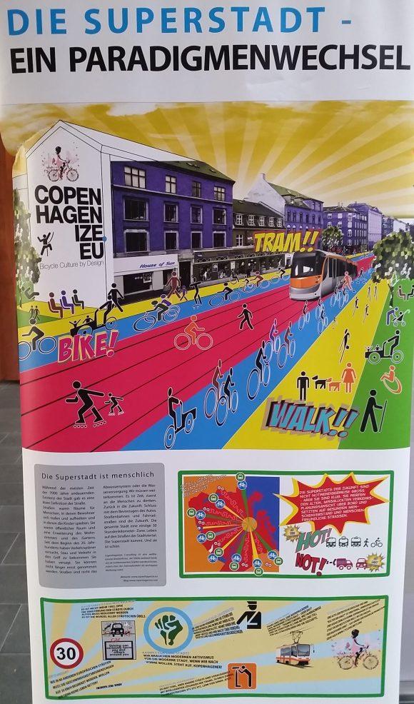Radverkehr in Kopenhagen - Ausstellung the good city Fahrrad Straßenraum als Lebensraum