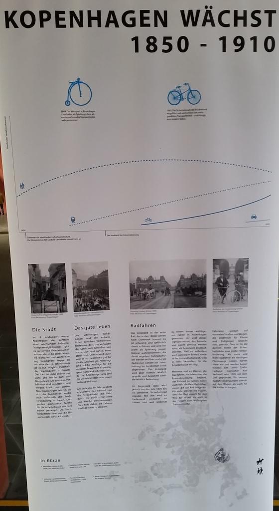 Radverkehr in Kopenhagen - Ausstellung the good city Fahrrad 1850 - 1910