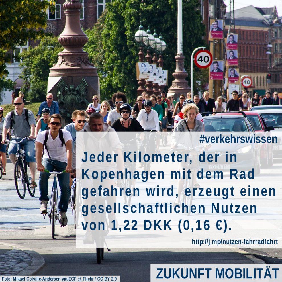 Nutzen Radverkehr Dänemark Kopenhagen Gesiundheitskosten Gesundheitsnutzen Gesundheitseffekt