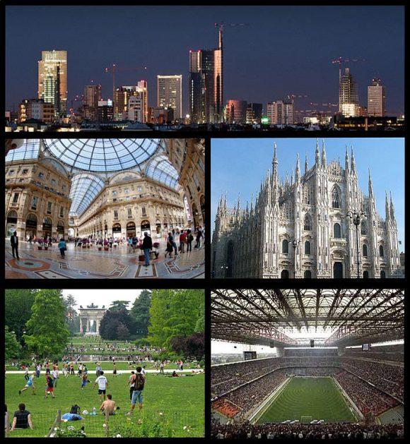 Collage von Mailand Impressionen