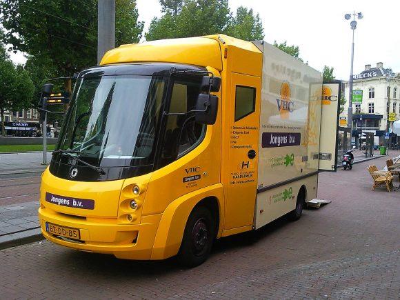 Modec Van Amsterdam elektrischer Lieferwagen