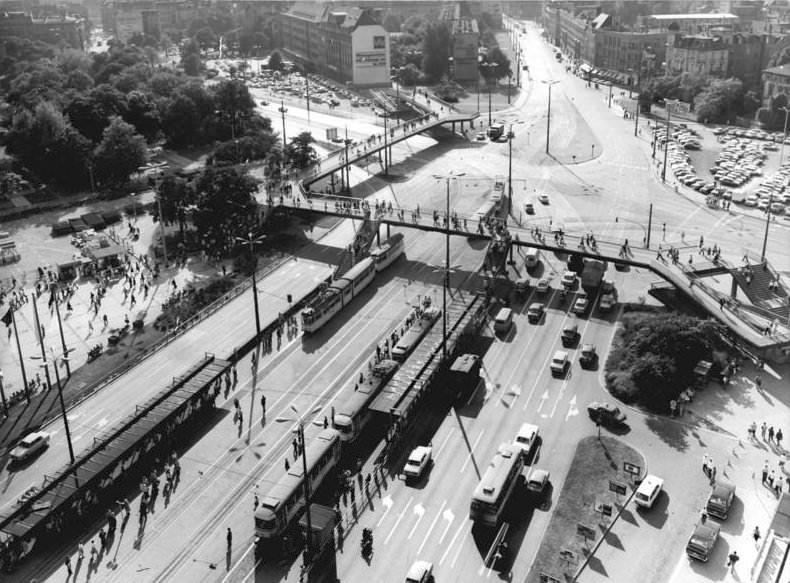 Autogerechte Stadt Leipzig Friedrich-Engels-Platz