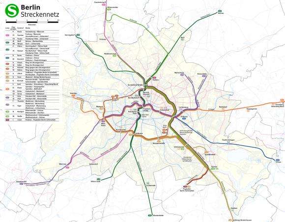 Berliner S-Bahn-Netz Netzplan Berlin S-Bahn Deutsche Bahn