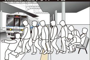 Japan Alkohol Sturz ins Gleisbett Ursache
