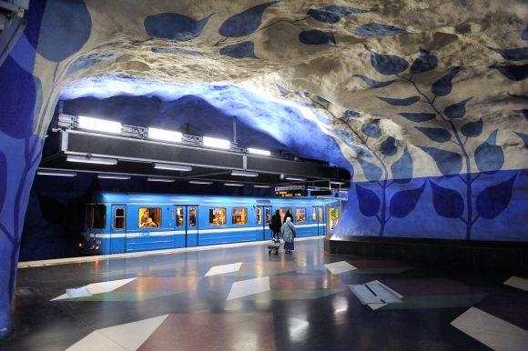 Tunnelbana Stockholm Design T-Centraalen Blau