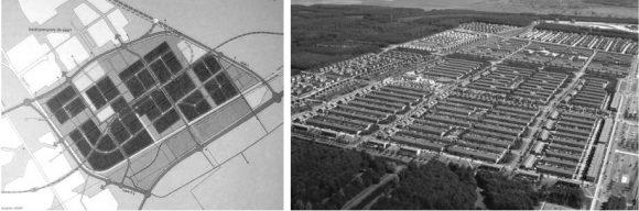 Plan für Almere Buiten Stadtstruktur Wohnviertel Zersiedelung