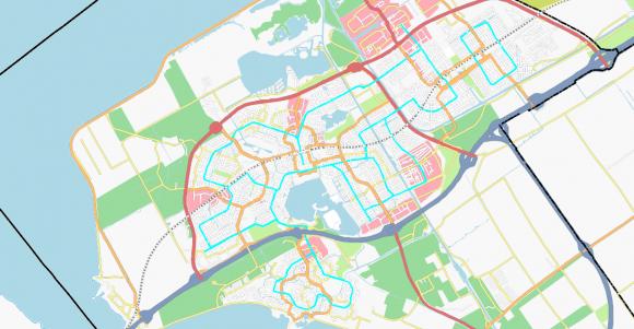 Busspuren Netz in Almere