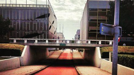 Radweg in Almere Niederlande Niveaufreiheit