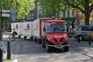 Cargohopper in Utrecht Niederlande Innenstadtlogistik