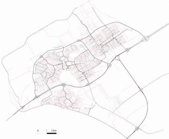 Straßennetz von Delft