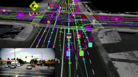Wie ein autonomes Fahrzeug die Welt ssieht Google Car autonomes Fahren