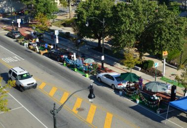 Norristown Impressionen Parking Day 2015