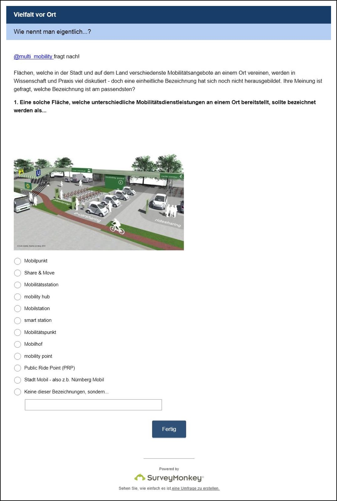 Mobilität vor Ort Mobilitätsstation mobilpunkt