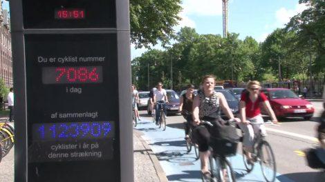 Koenhagen Fahrradfahrer Radverkehr Zählstelle