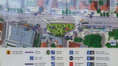 Münchner Freiheit Mobilitätsstation Karte Schema Bestandteile Mobilpunkt