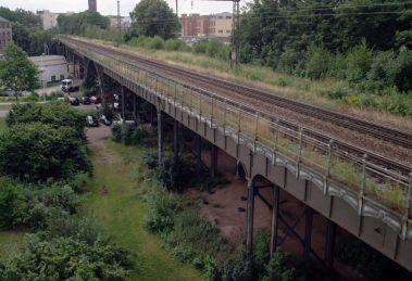 Chemnitzer Eisenbahnviadukt Denkmalschutz Baukultur Denkmal Bahnbrücke