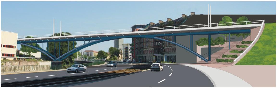 Neubau Chemnitz Viadukt Entwurf Krebs und Kiefer Annaberger Straße