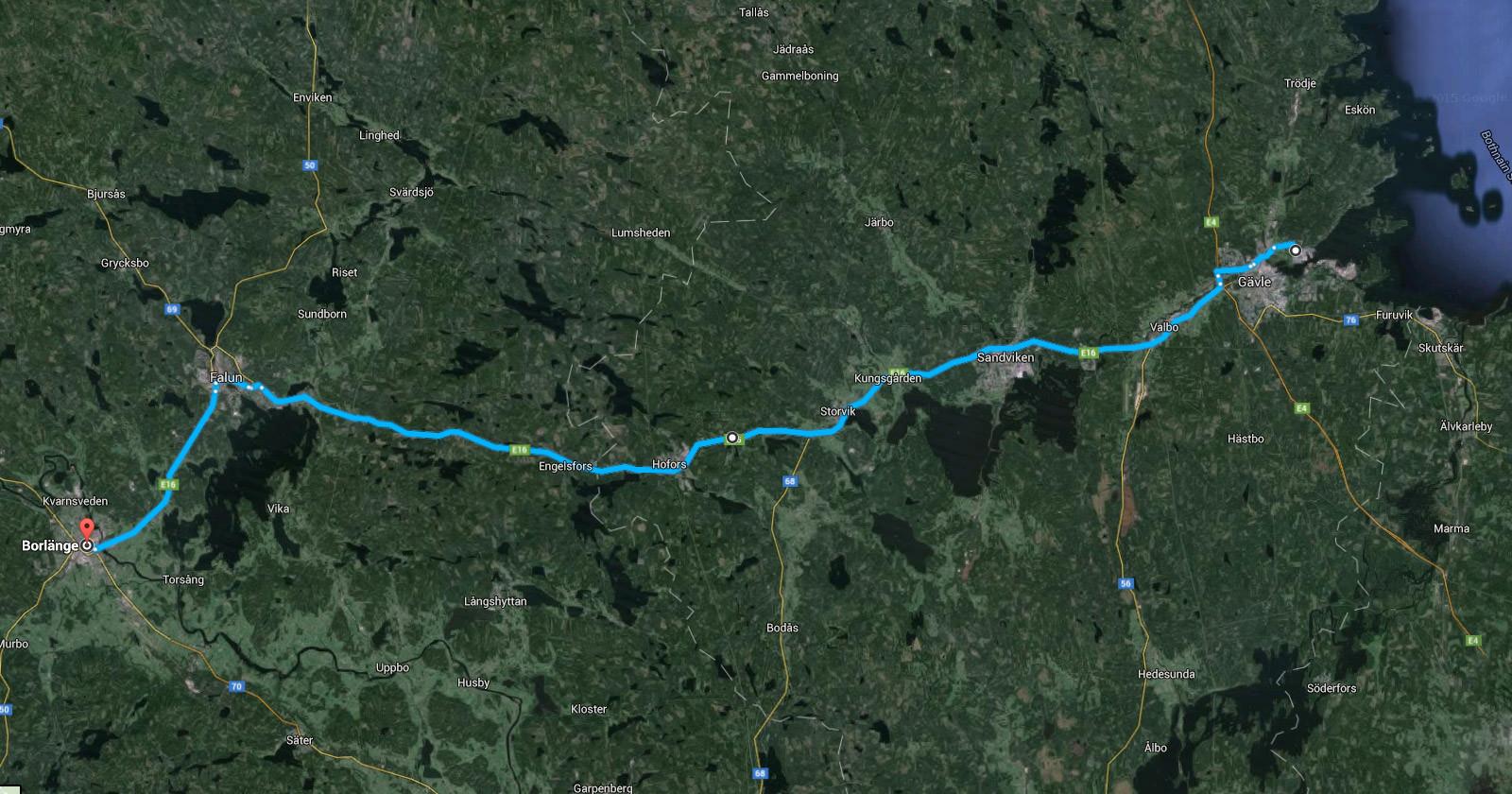 Siemens eHighway Schweden Scania Strecke Teststrecke Karte
