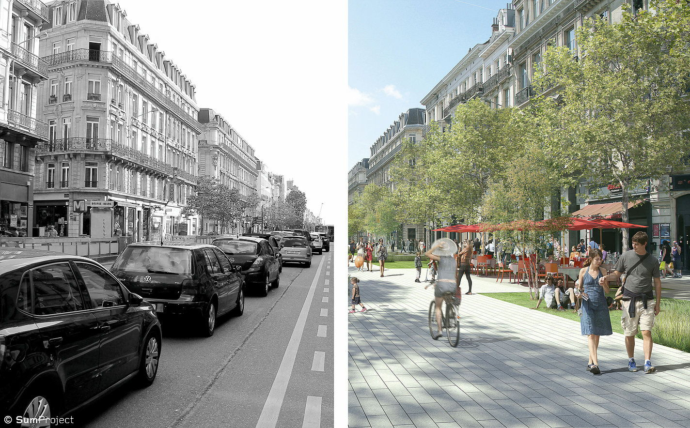 Brüssel Boulevard Anspach Fußgängerzone Umgestaltung pedestrian Anspachplaan
