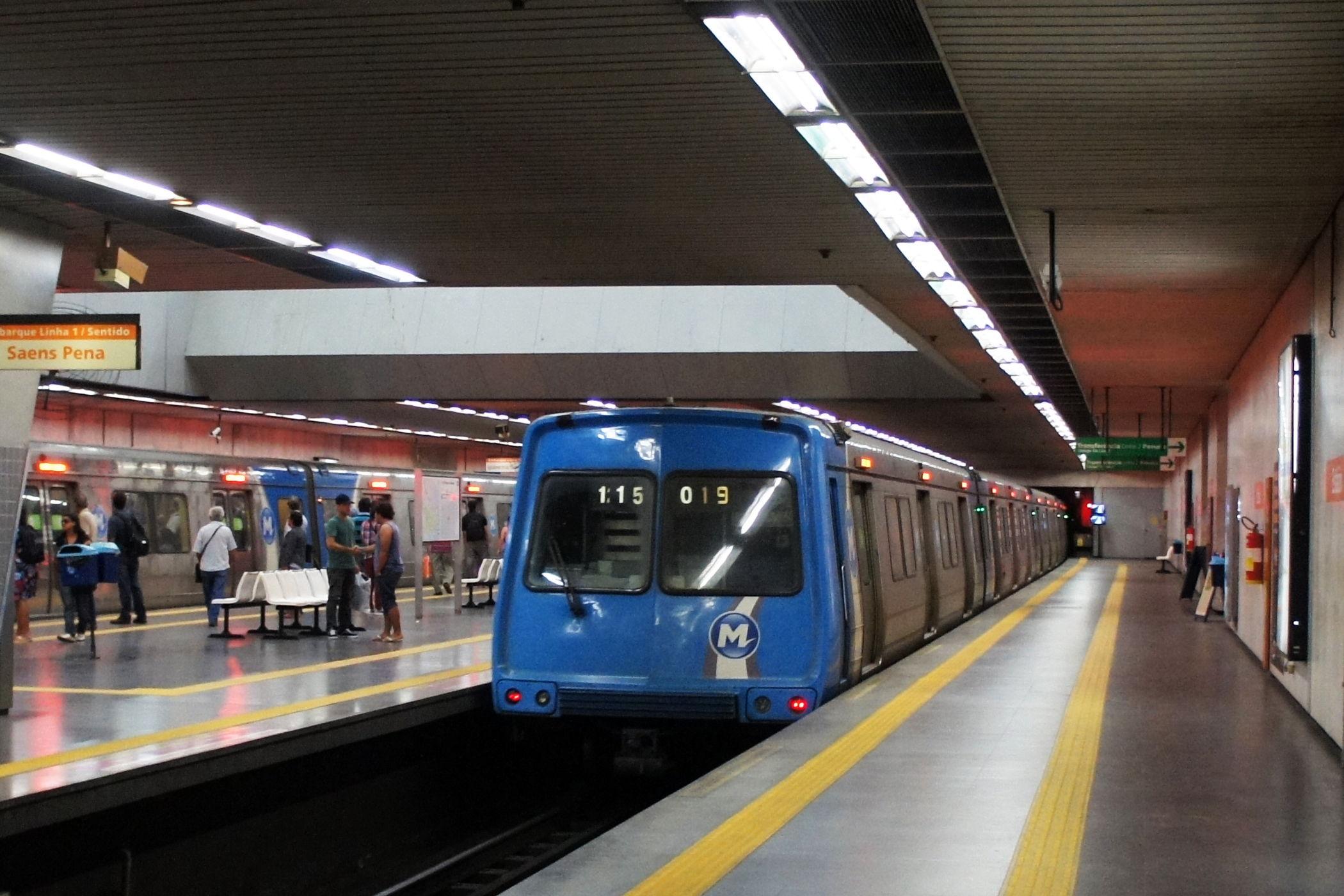 Rio de Janeiro Metro U-Bahn Brasilien