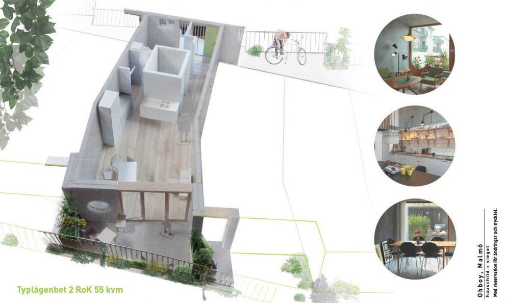 Malmö Architektur Fahrradfreundlich autofreies Wohngebäude