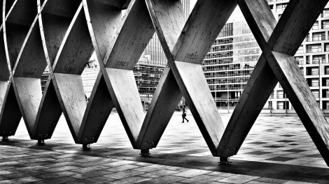Wien beton schwarz-weiss Stadt Architektur gebaute Stadtstruktur