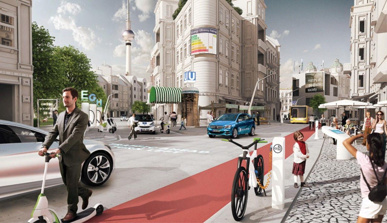 Zukunft Großstadt Europa 2030 Mercedes Benz