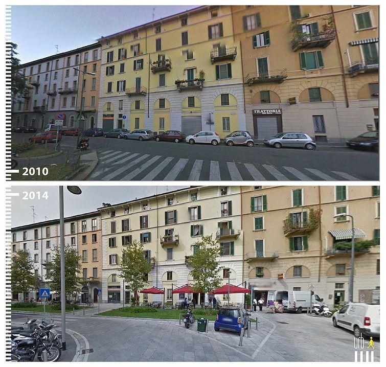 Mailand Platz Umbau Via Amerigo Vespucci