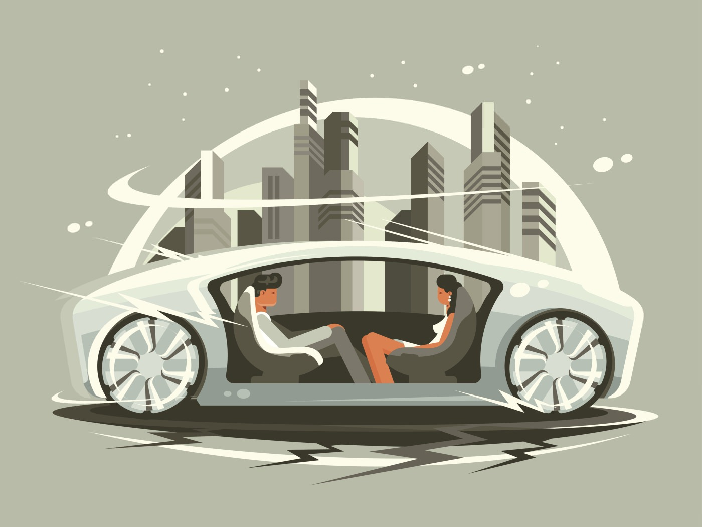 Wirkung autonomes Fahren automatisiertes Fahren Stadt Umfeld Arbeit Land
