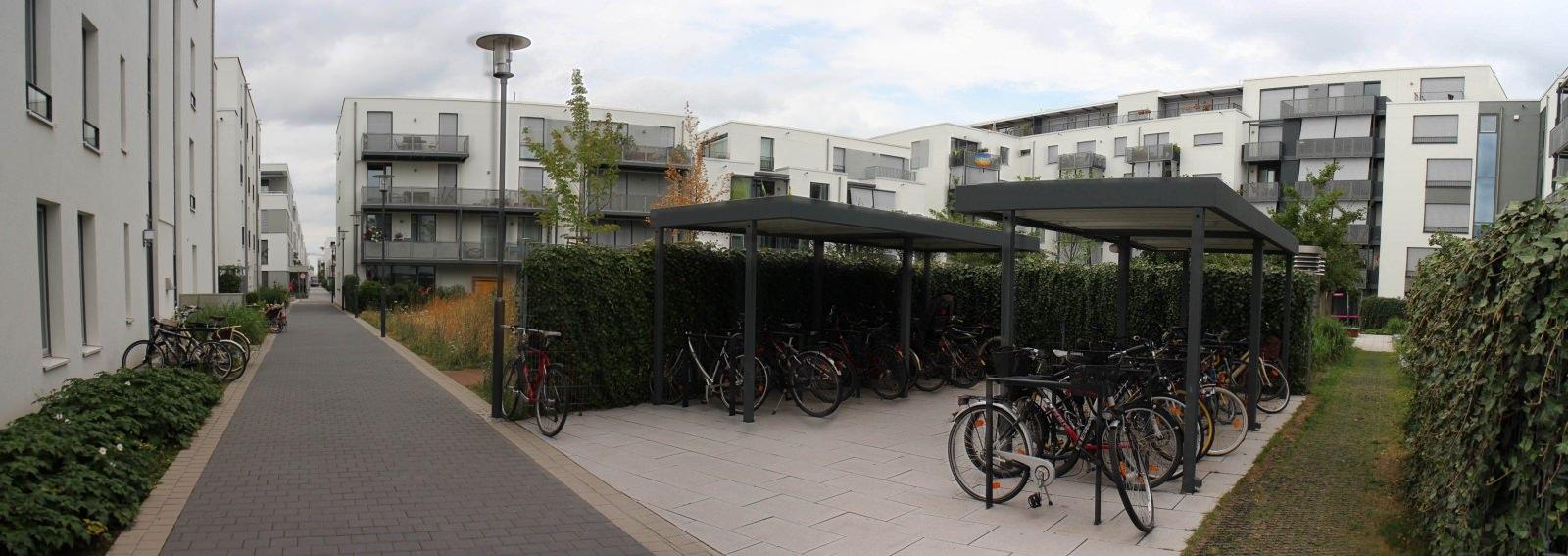 Radabstellanlage Heidelberg Bahnstadt Fahrradparken Gebäude Wohnprojekt