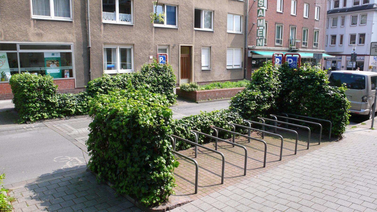 Gladbeck Radabstellanlage Straßenraum Radständer