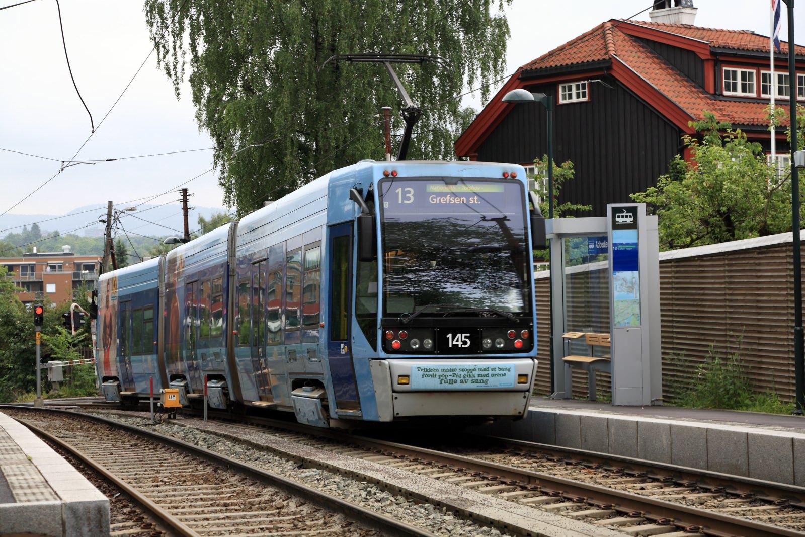 Oslo Tram Straßenbahn SL95