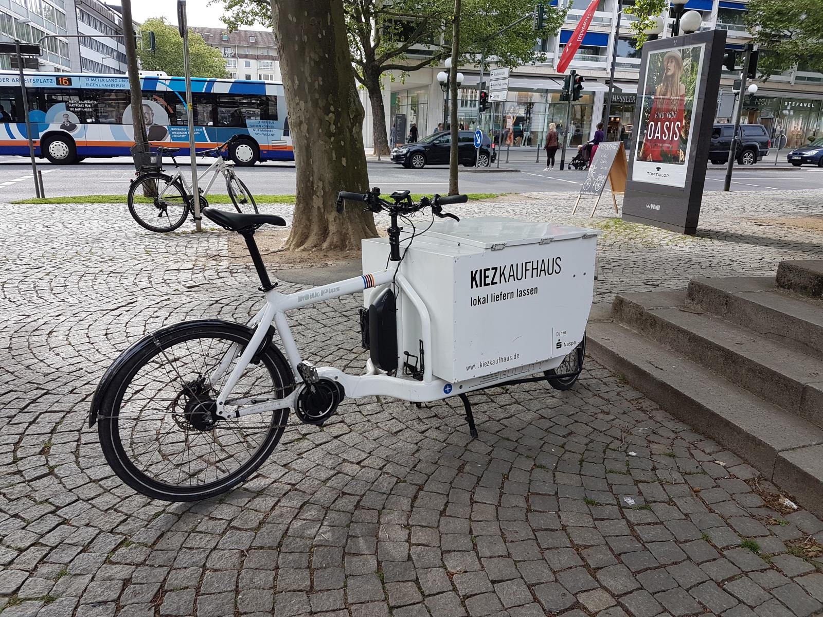 Kiezkaufhaus Lastenrad Wiesbaden regionale Produkte