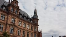 Rathaus Wiesbaden historisch Innenstadt