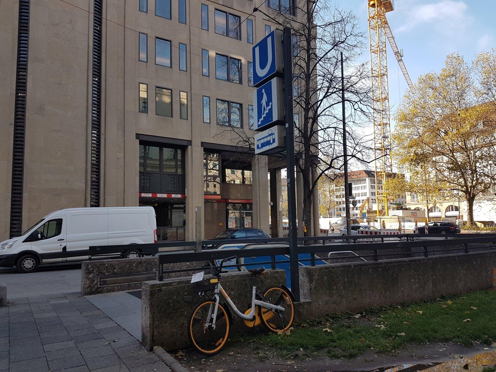 stationsloses Bikesharing oBike Fahrrad München Sendlinger Tor