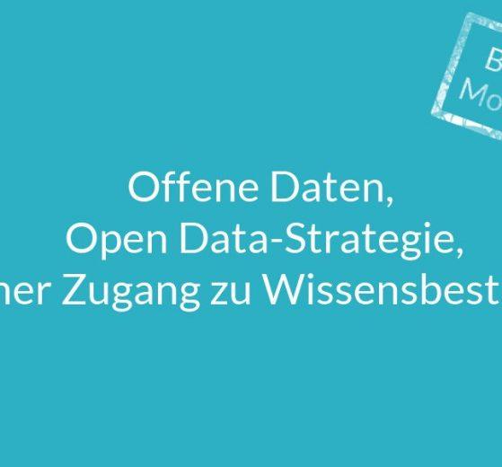 Baustein der Mobilitätswende Open Data Offene Daten Open Data-Strategie