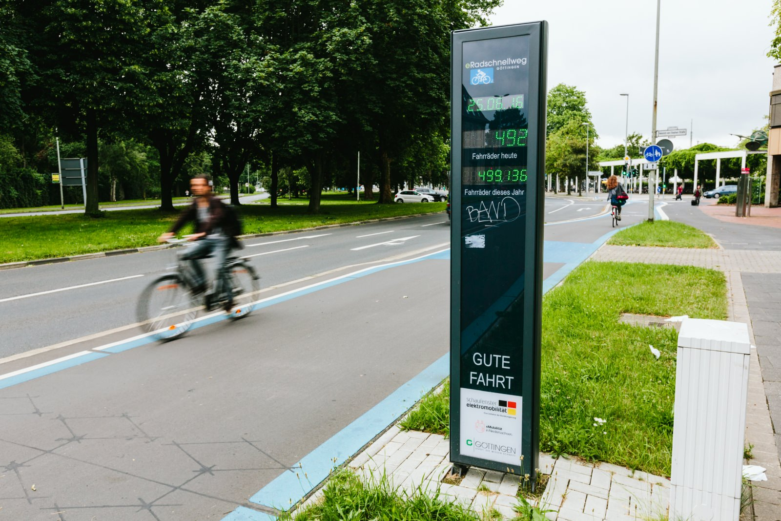 Radverkehrszählstelle Göttingen Erhebung