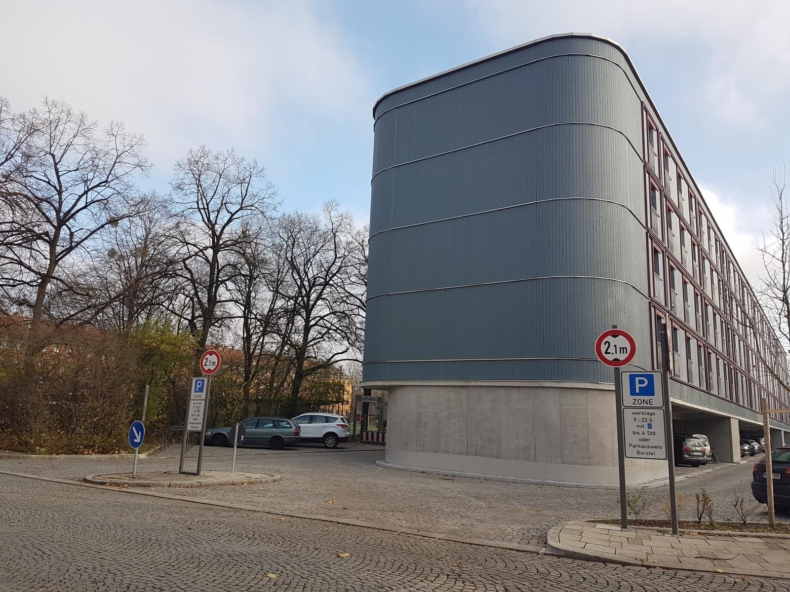 Dantebad München Überbauung Parkplatz bezahlbarer Wohnraum Ortsbeton