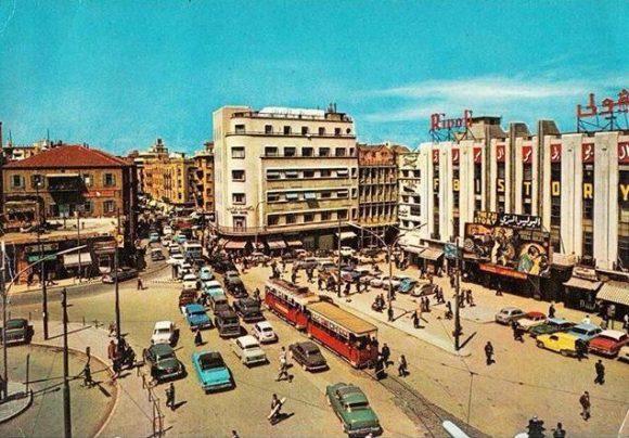 Straßenbahn Beirut Libanon 1960