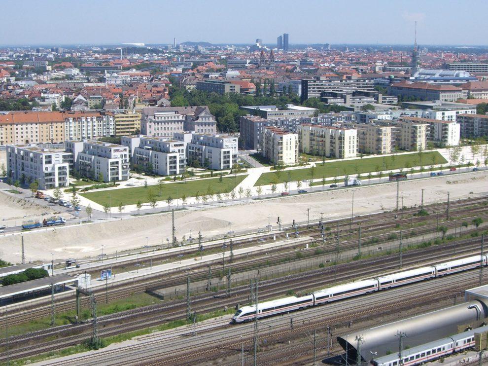 Arnulfpark im Bau München 2007 Gleisverfeld München Hbf