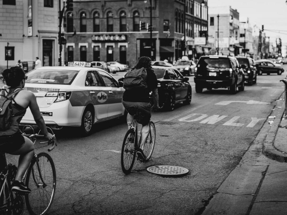 Radfahrerinnen in Chicago