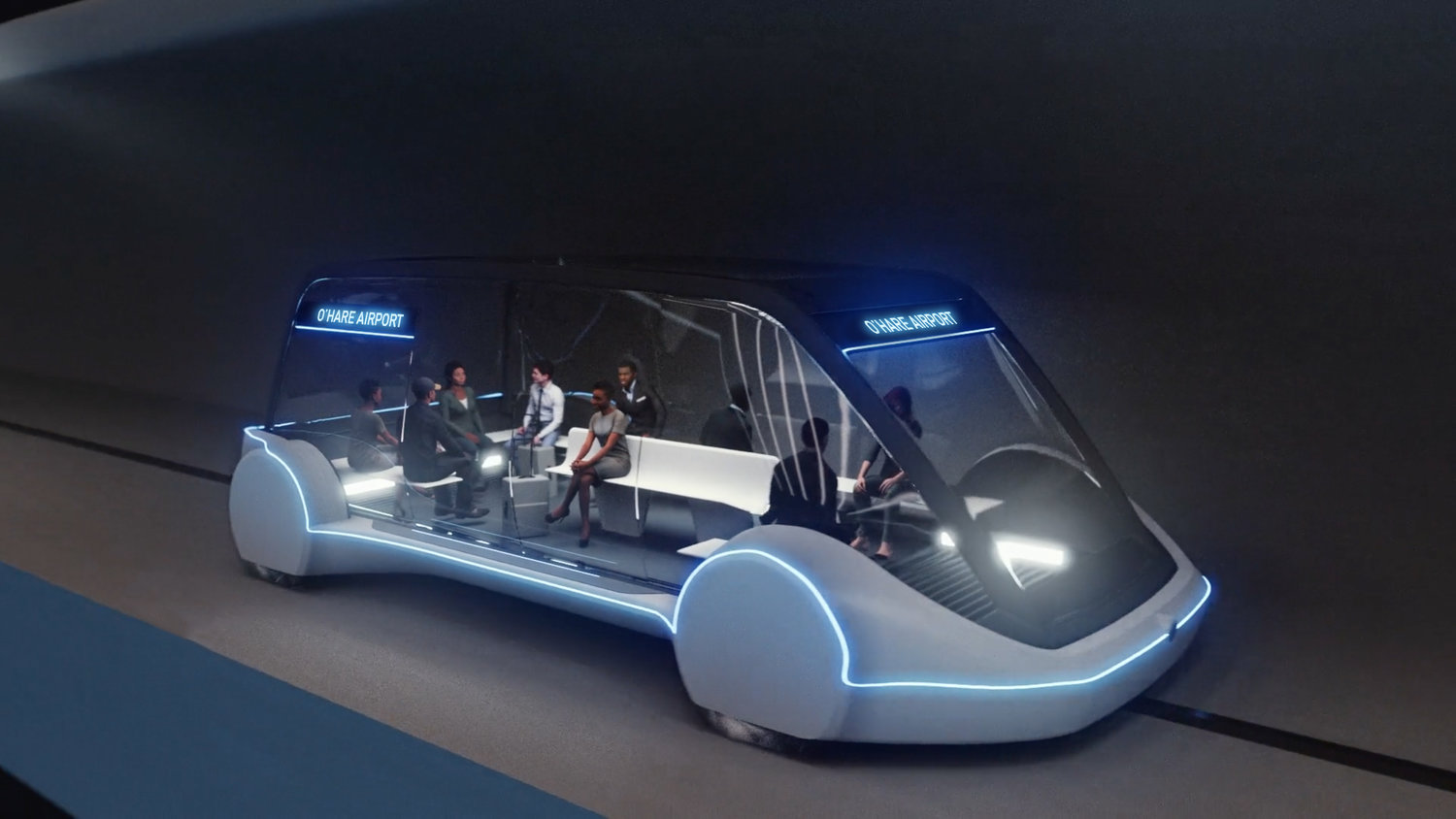 Chicago Express Loop The Boring Company Fahrzeuge Schlitten Skids