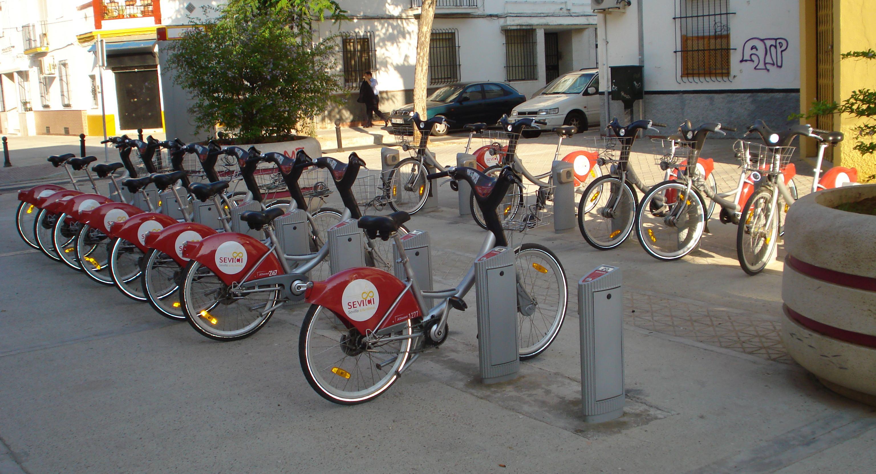 Sevici Bikesharing Sevilla Spanien