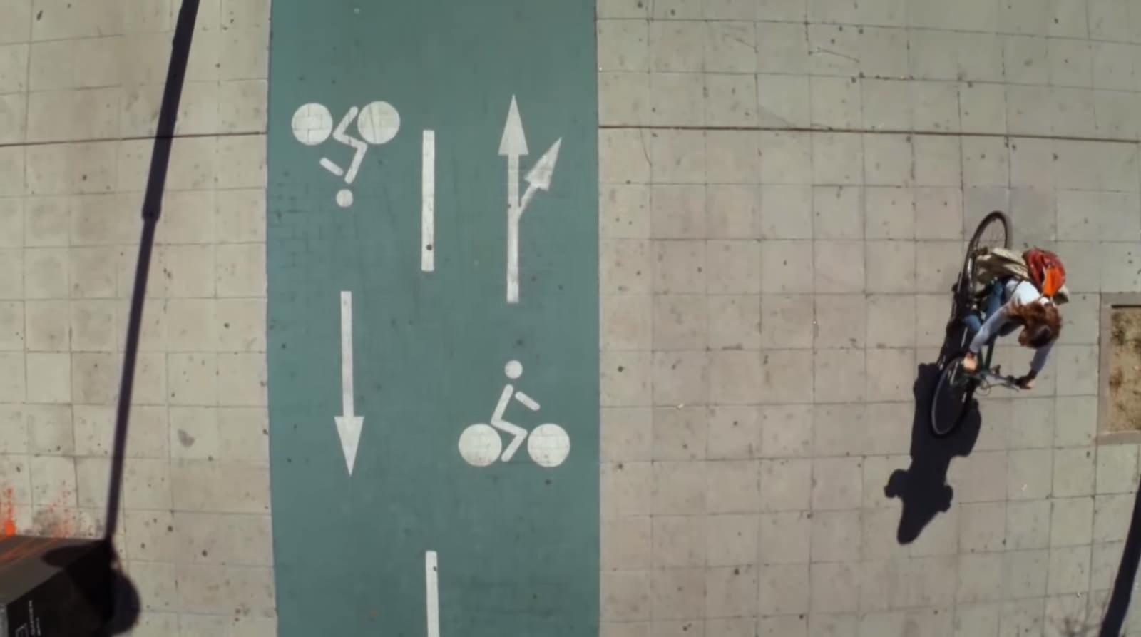 Radverkehr Sevilla Spanien Zweirichtungsradweg